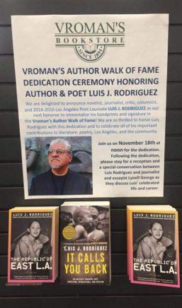 Vroman's Walk of Fame, Luis Rodriguez