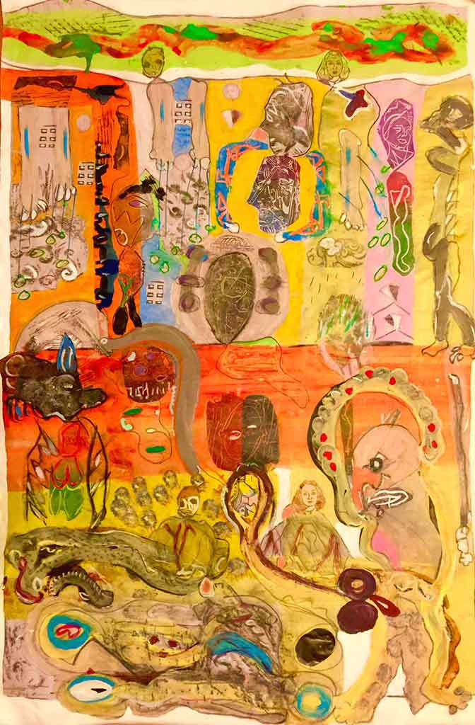 ART TODAY 02.02.18 Robert Soffian shares his movements (like a dance) when he paints & favorite tools