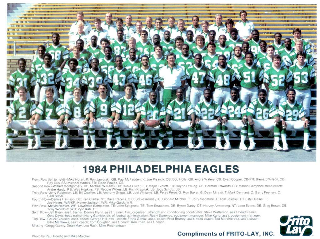 Philadelphia Eagles 1984 with Andre Hardy
