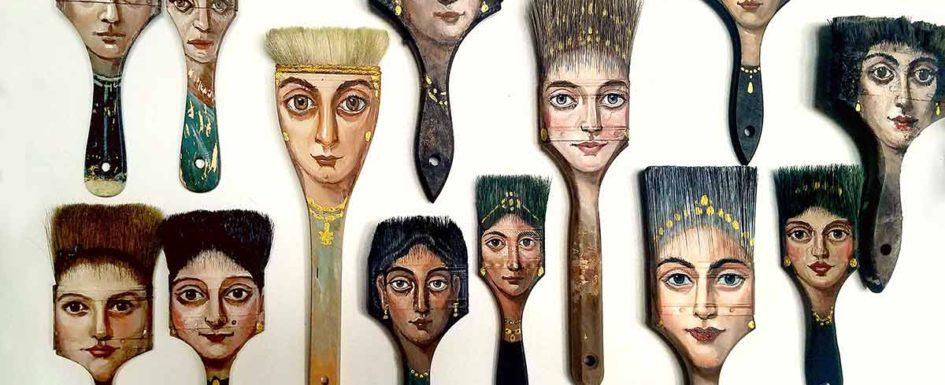 Brush collection, studio by Alexandra Dillon