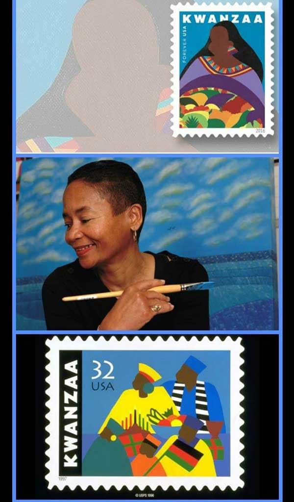 Kwanzaa U.S. Postage Stamp (the Brown Girl collection) by Synthia SAINT JAMES