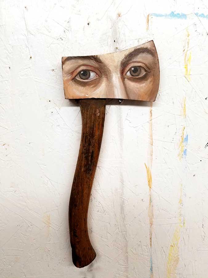 ART TODAY 020818 Axe by Alexandra Dillon: Passive aggressive behavior or edgy personality