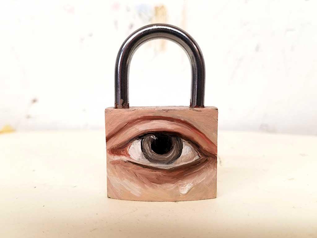 Padlock eye by Alexandra Dillon