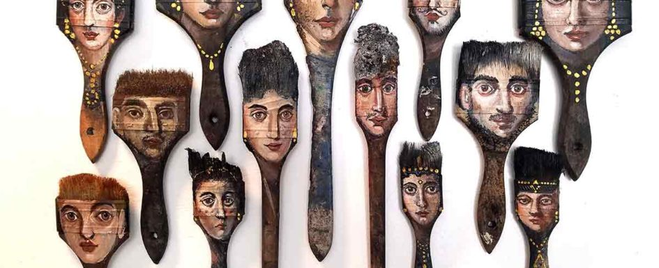 Palimpsest burned brushes by Alexandra Dillon