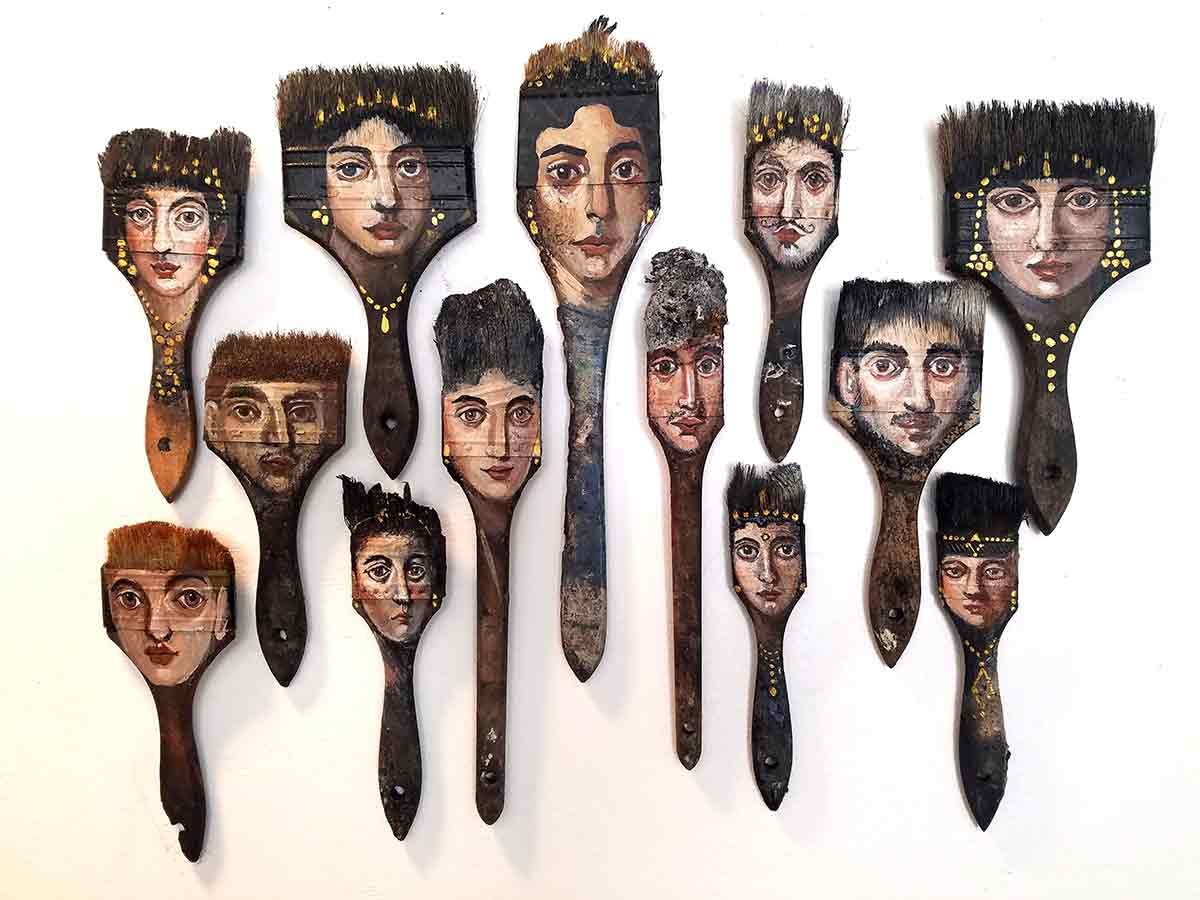 ART TODAY 021018 The burned brushes that started a legend for Alexandra Dillon: FAB Gallery's PalimpsestVenice (watch the video)