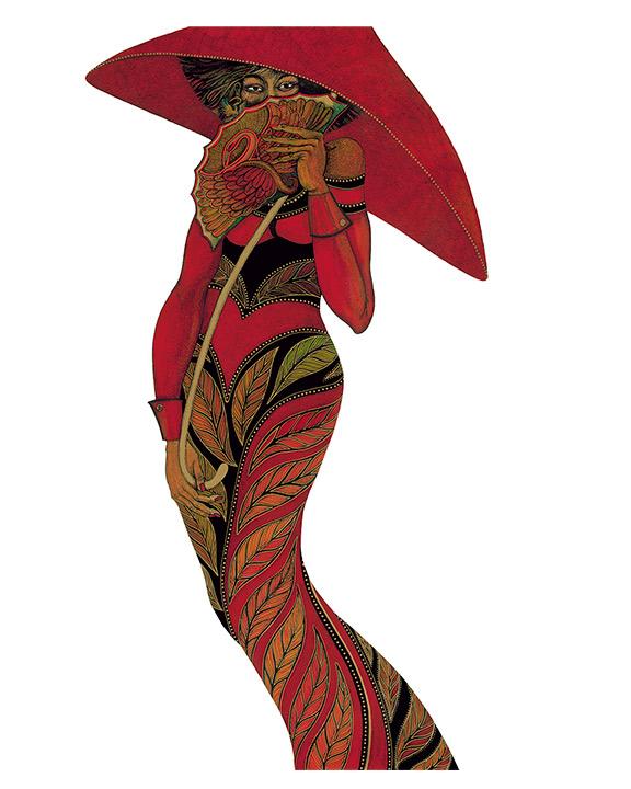 Red Umbrella by Charles Bibbs