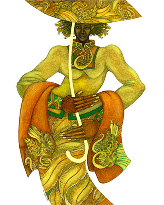 ART TODAY 041818 Yellow Umbrella by Charles Bibbs + A 2-minute podcast on the business of Art…