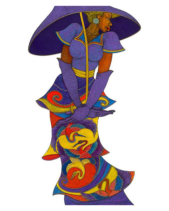 """Purple Umbrella by Charles Bibbs – creator of the Black Madonna in the movie, """"The Secret Life of Bees"""""""