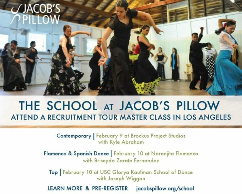 The School at JACOB'S PILLOW Recruitment Master Class coming to LA Feb 9 and 10, 2019