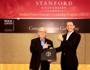 Prof. Roman Weil and Dmitry Fedotov at Stanford graduation