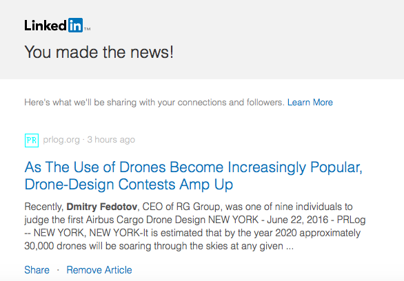 Dmitry Fedotov - LinkedIn - Made News