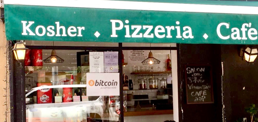 Kosher pizza for bitcoin