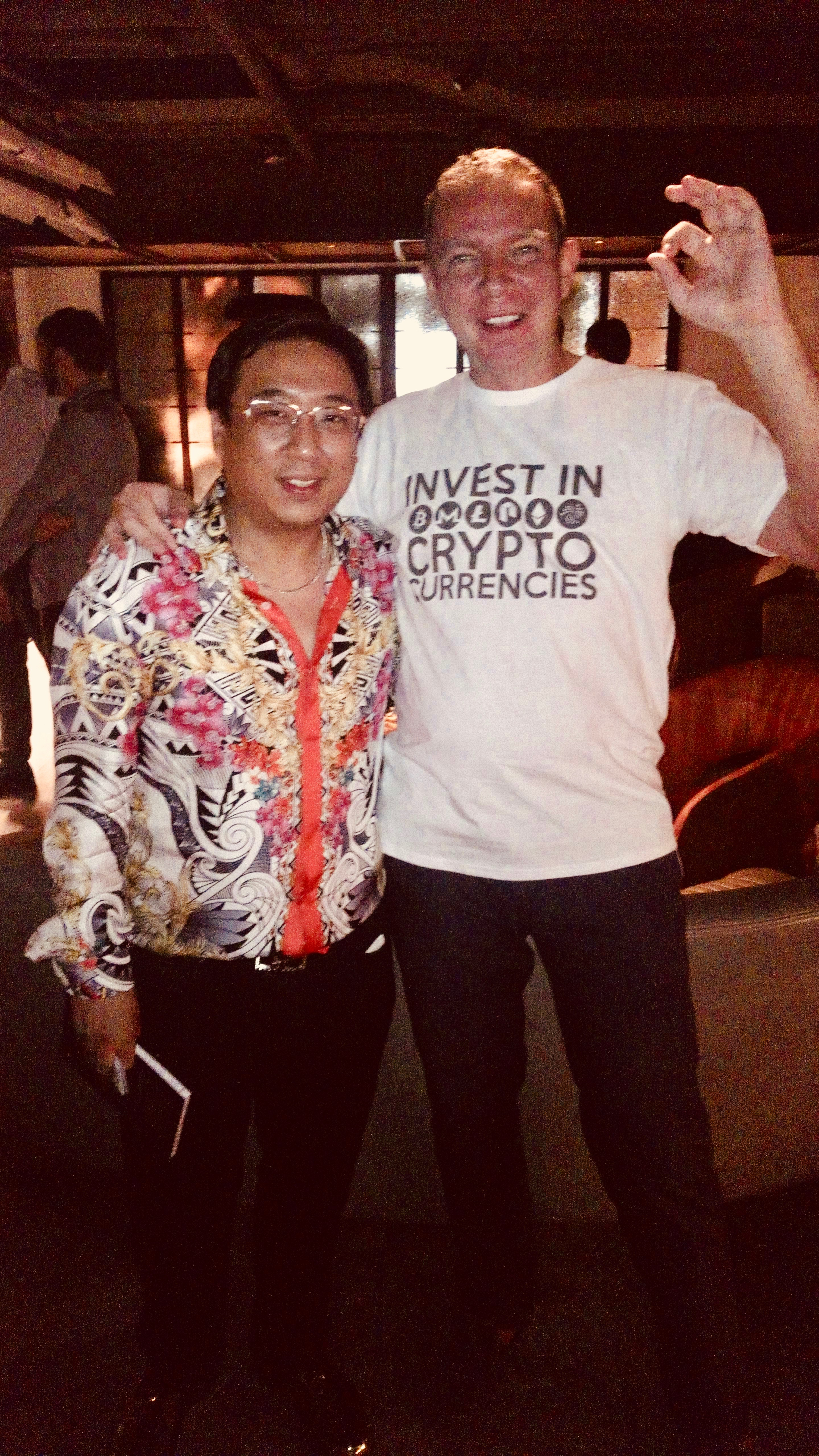 Dmitry Fedotov and James Bang of Bitcoin Association Hong Kong