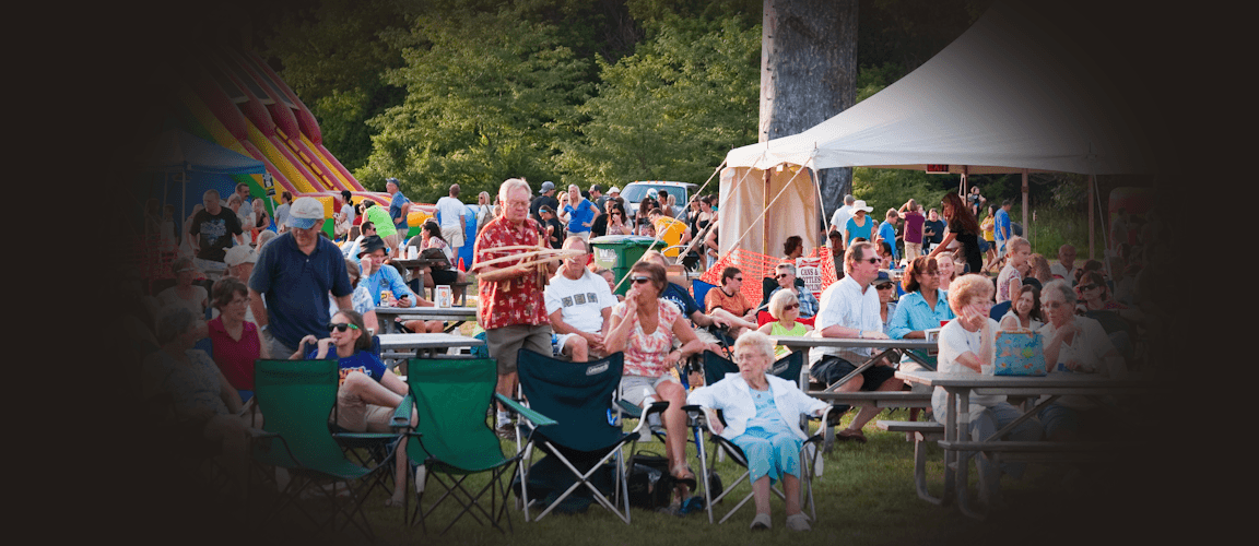 Clive Festival crowd - Clive Community Foundation