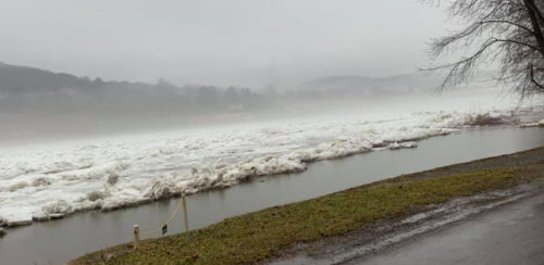 Ice Jams Causing Flooding Along Allegheny River