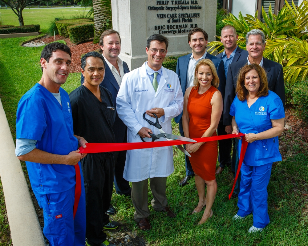 Gulfshore Concierge Medicine new office ribbon cutting