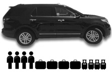 Ford Explorer passenger and luggage