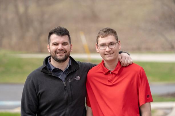 Mark (right) with mentor and Koinonia Enterprises supervisor Michael Morrow.