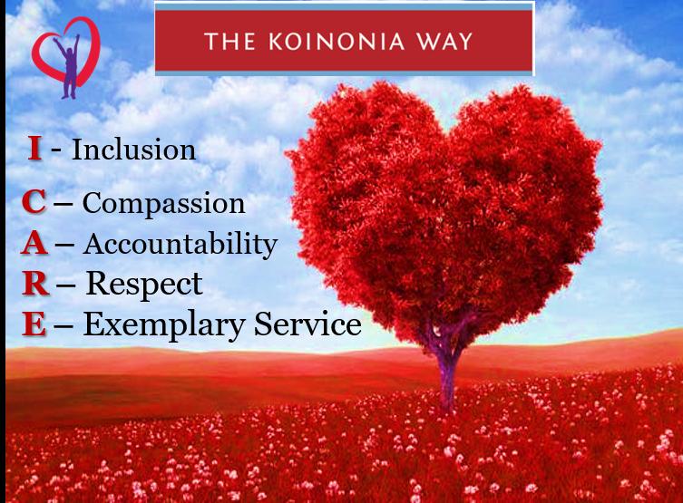 I CARE – Koinonia's Core Values