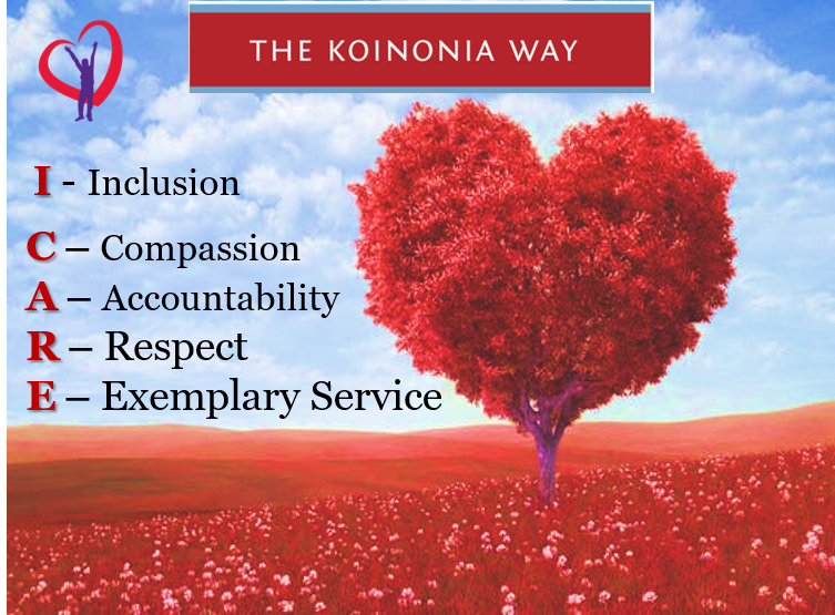 I CARE – Koinonia's Core Values