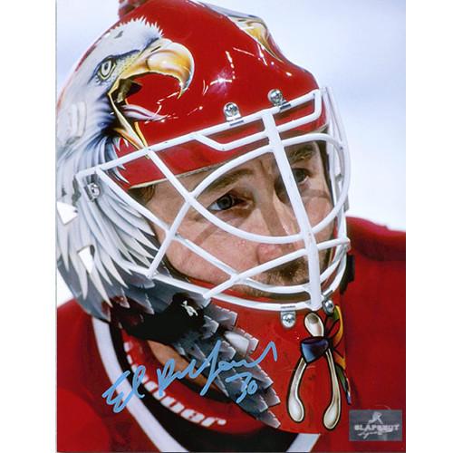 Ed Belfour Chicago Blackhawks Signed Eagle Mask 8x10 Photo