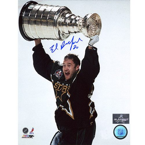 Ed Belfour Dallas Stars Signed 1999 Stanley Cup 8x10 Photo