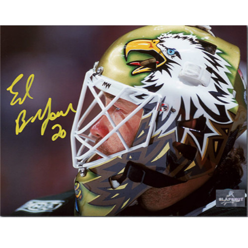 Ed Belfour Dallas Stars Signed Eagle Mask Signed 8x10 Photo