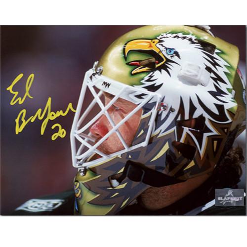 Ed Belfour Dallas Stars Signed Eagle Mask Signed 8x10 Photo