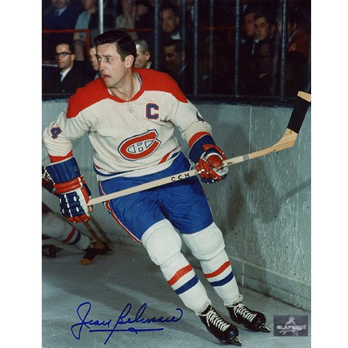 Jean Beliveau Montreal Canadiens Signed 8x10 Action Photo