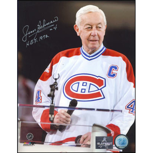 Jean Beliveau Tribute-Signed 8x10 100th Anniversary Ceremony Photo