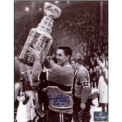 Jean Beliveau Signed Photo Canadiens 8x10 Stanley Cup Photo