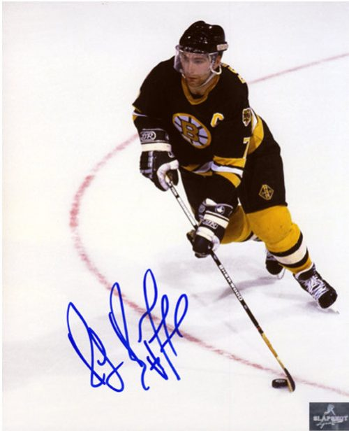 Ray Bourque Photos-Signed Boston Bruins Overhead 8x10