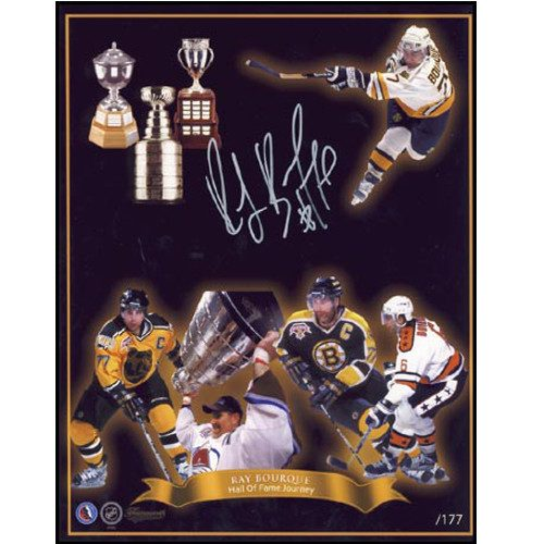 Ray Bourque Hockey Hall of Fame Journey Boston Bruins Signed 8x10 Photo