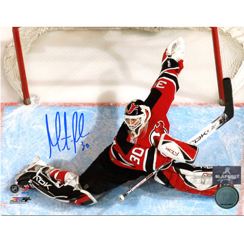 Martin Brodeur New Jersey Devils Signed Overhead 8x10 Photo