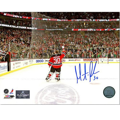 Martin Brodeur Wins Record NJ Devils Signed Celebration 8x10 Photo