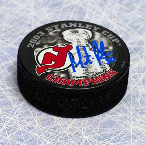 Martin Brodeur Signed Puck New Jersey Devils 2003 Stanley Cup