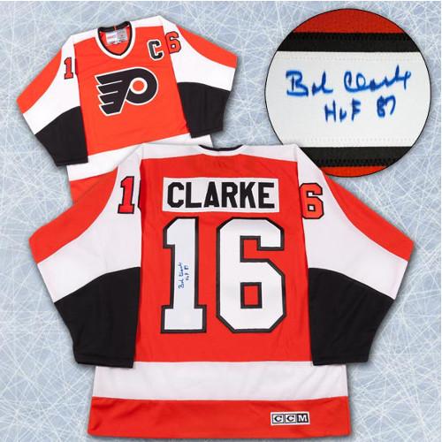 Bobby Clarke Signed Jersey Philadelphia Flyers Vintage CCM Jersey