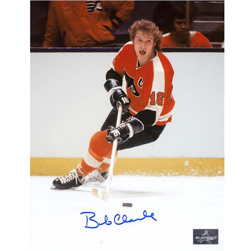 Bobby Clarke Toothless Photo Philadelphia Flyers Signed 8x10 Photo