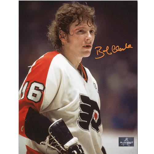 Bobby Clarke Hockey Photo Philadelphia Flyers Bloody Warrior Signed 8x10