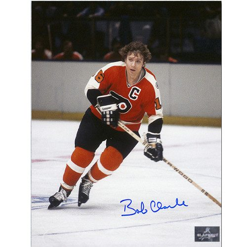 Bobby Clarke Signed Photo Philadelphia Flyers Captain 8X10 Photo