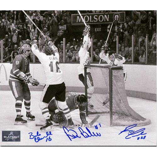 LCB Line Photo 8X10 signed by Bobby Clarke