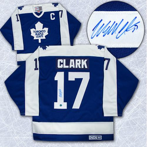 Wendel Clark Signed Jersey Toronto Maple Leafs Vintage CCM Hockey Jersey
