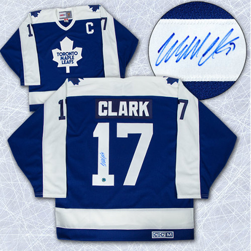 Wendel Clark Signed Jersey Toronto Maple Leafs Vintage CCM Hockey Jersey