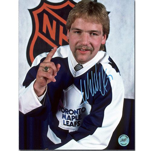 Wendel Clark Draft Day 1st Pick Toronto Maple Leafs Signed 8x10 Photo