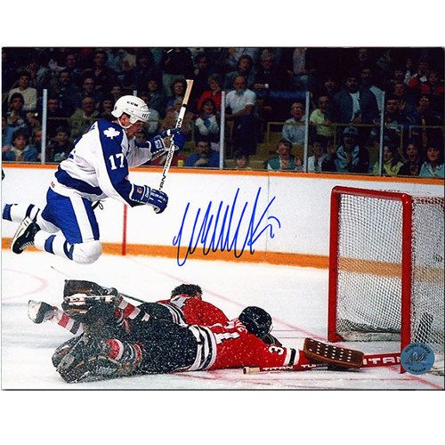 Wendel Clark Autographed Photo 8x10 Toronto Maple Leafs Diving Goal