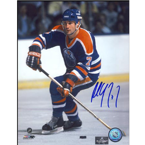 Paul Coffey Autographed Picture Edmonton Oilers Hockey Magician