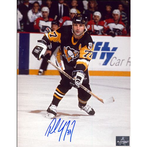 Paul Coffey Pittsburgh Penguins Playmaker Pass Signed 8x10 Photo