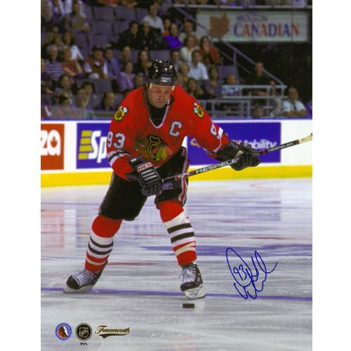 Doug Gilmour Chicago Blackhawks Signed 8x10 Photo