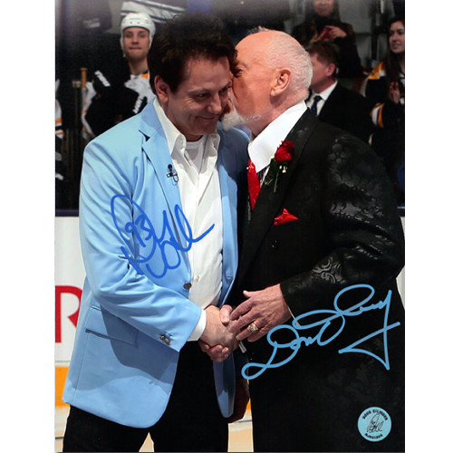 Doug Gilmour Don Cherry Dual Signed 8x10 Hockey Kiss Photo