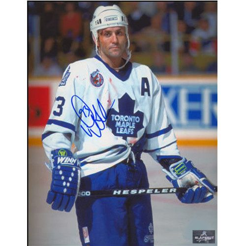 Doug Gilmour Toronto Maple Leafs Signed Bloody Warrior 8x10 Photo|Doug Gilmour Toronto Maple Leafs Signed Bloody Warrior 8x10 Photo